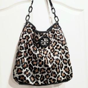 Tory Burch City Hobo bag leopard print calf hair